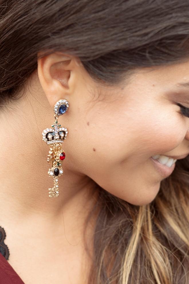 Chloe and Isabel Royalty Dangling Earrings
