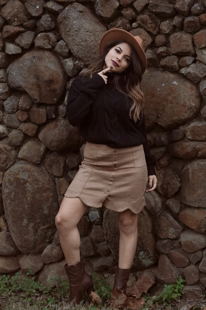 Knit and Suede Fall Outfit